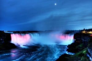 Niagara Falls winter activities include sight seeing at the Horseshoe Falls.
