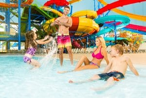 Fallsview Indoor Waterpark is a family-friendly destination to experience this winter in Niagara Falls.